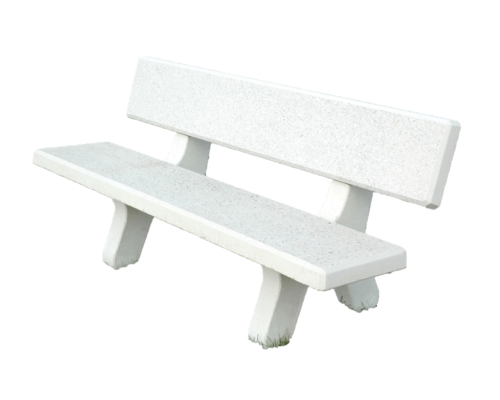 White concrete bollard
