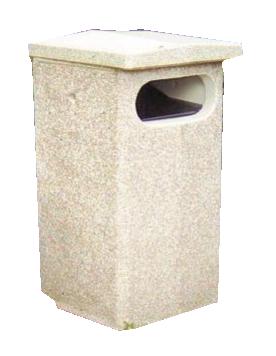 Concrete waste basket