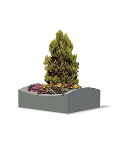 Epsilon concrete planter