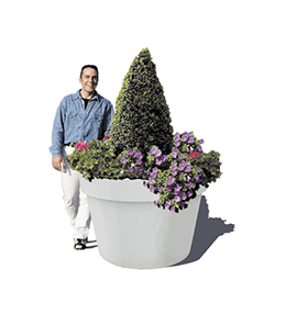 Pot concrete planter
