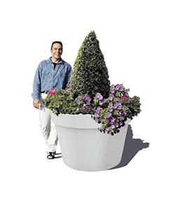 Jadinière béton Pot