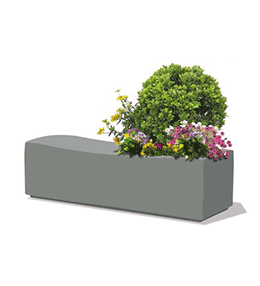 Epsilon concrete bench planter