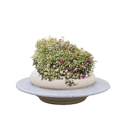 Concrete planter with seat
