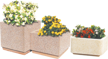 Patrimoine square concrete planter