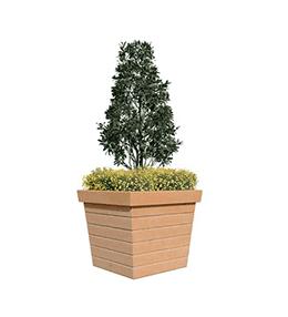 Jardinière béton carrée Patrimoine