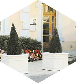 Jardinière béton Chambord Carrée