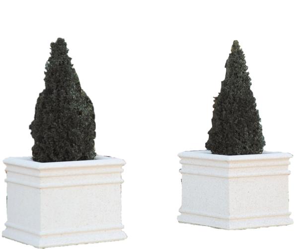 Chambord square concrete planter
