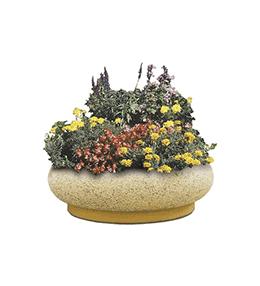 Corole concrete planter