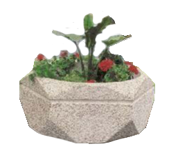 Hexagonal concrete planter