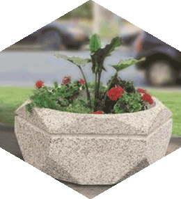 Hexagonal concrete planter