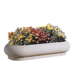 Jardinière béton ovale