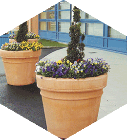 Patrimoine round concrete planter