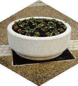 Jardinière béton ronde
