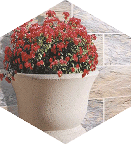 Fontainbleau semi-round planter