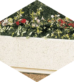 Rectangular planter in washed aggregate