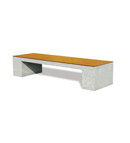 Concrete and wood benches