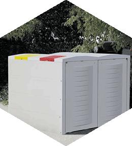 Abris-conteneurs 2 x 660 litres