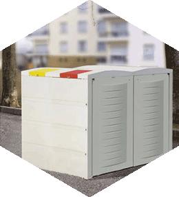 Abris-conteneurs 2 x 750 litres