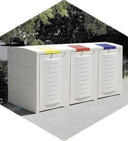 Abris-conteneurs 3 x 350 litres