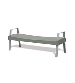 Epsilon bench with armrests