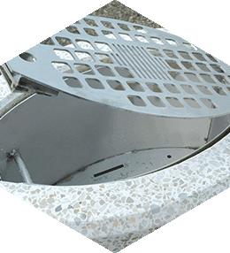 Concrete ashtray (AP80CEN)