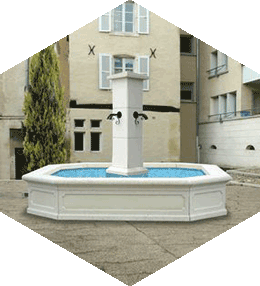 Naples concrete Fountain
