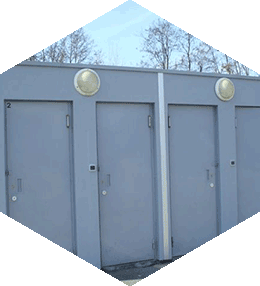 Toilets for Travellers with enclosed laundry