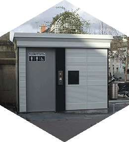 Contemporary Toilet Kiosk